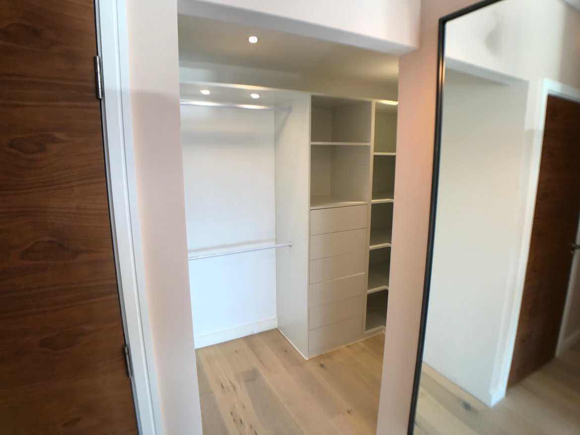 walk-in wardrobe in white