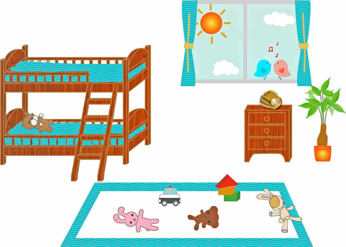 kids room bed