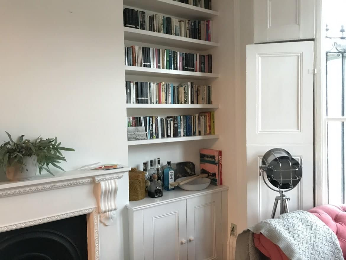 custom made alcove shelving