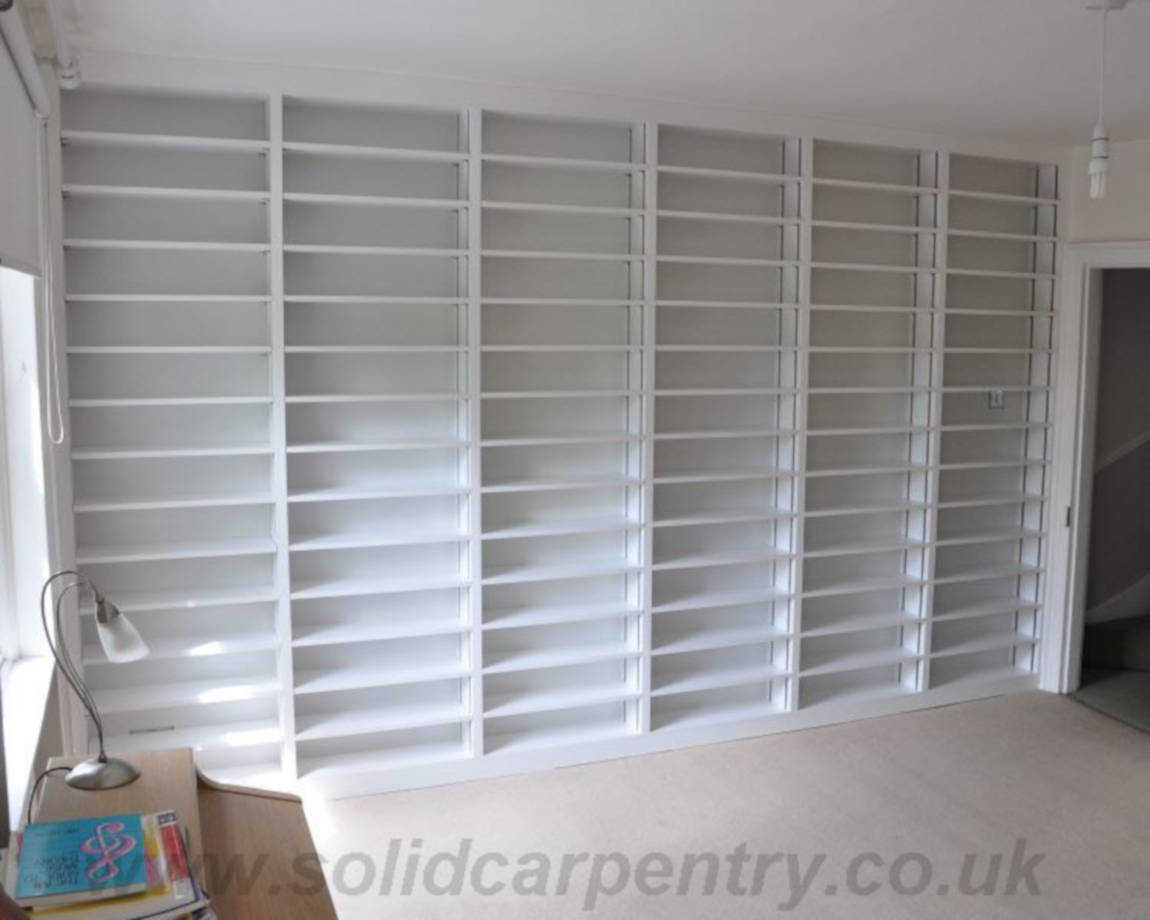 bespoke made fitted bookcases