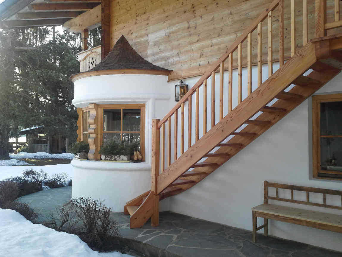 external wooden staircases