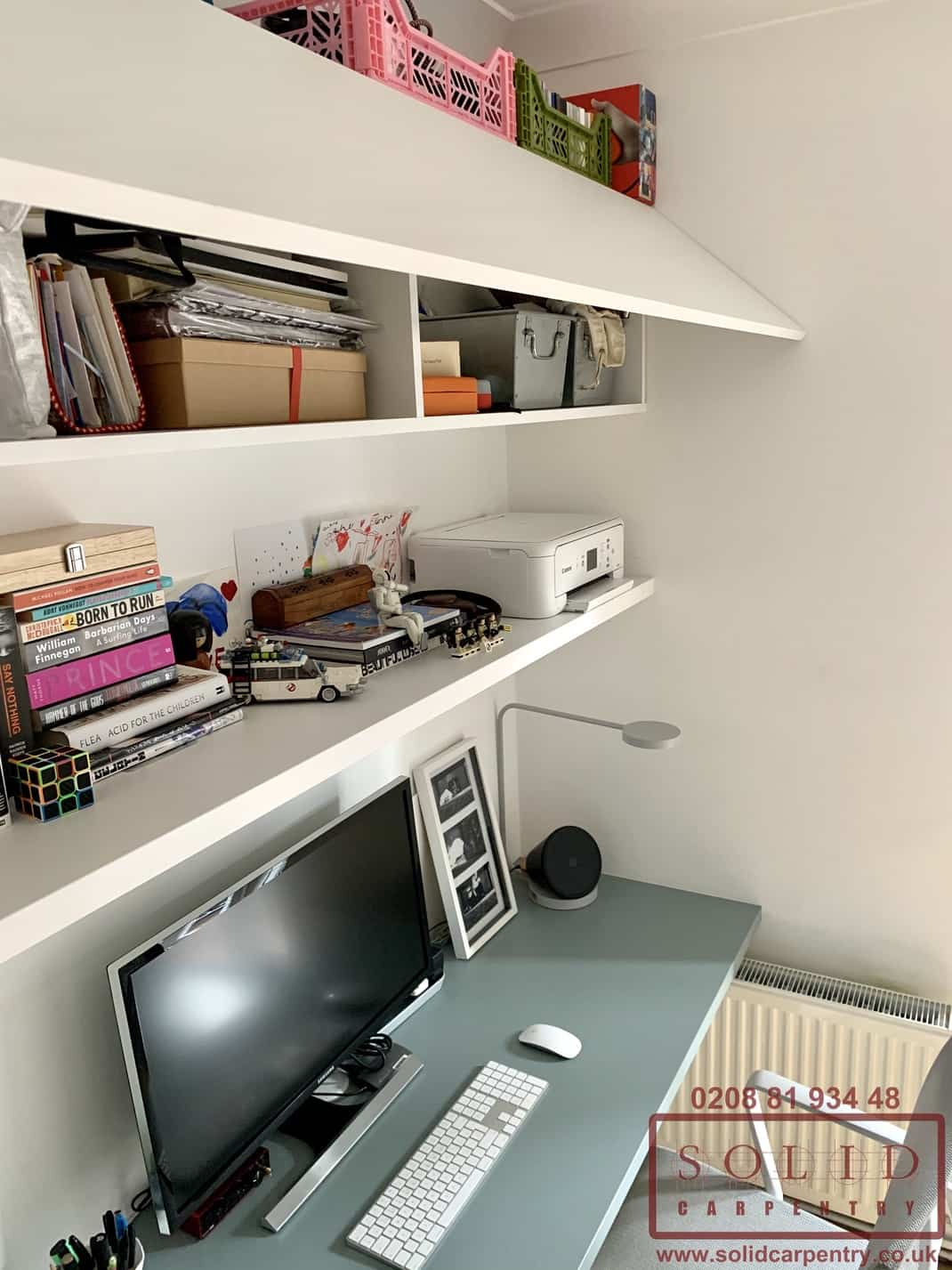 built in bespoke home office furniture