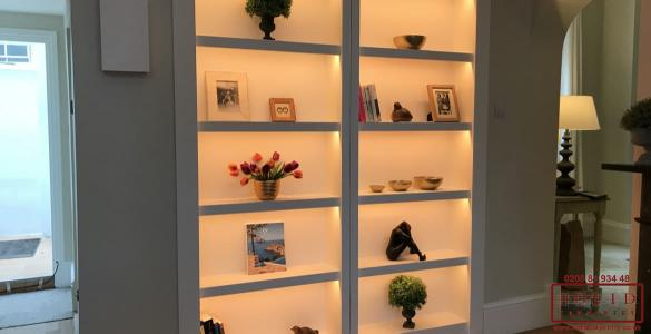 illuminated bookcase