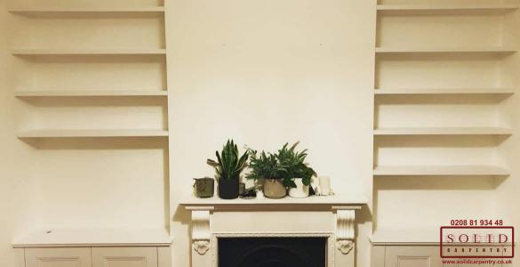 alcove fitted bookcases
