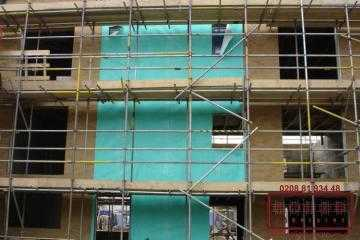 Image illstrating work on Cladding installation