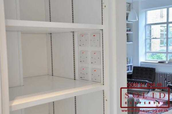 Adjustable shelves inside cupboards