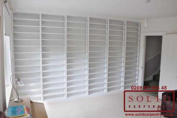 Wall to wall bespoke bookcase