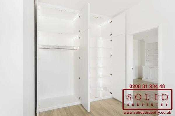 Wardrobe with built in led lights
