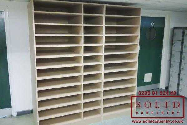 Factory shelving unit