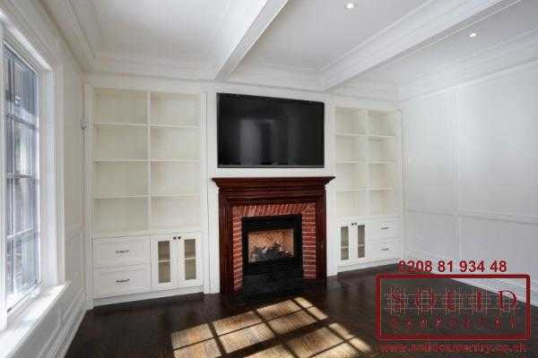 Fire place bookcase