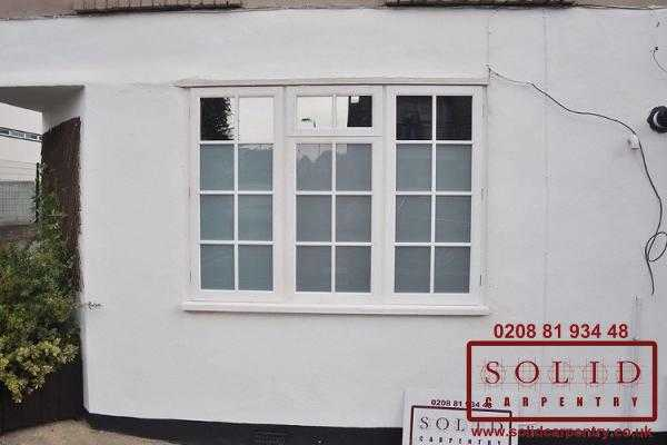 Whithe casement windows