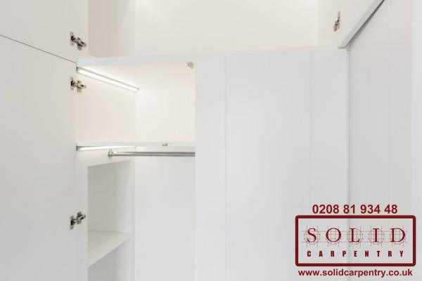integrated led lights wardrobe
