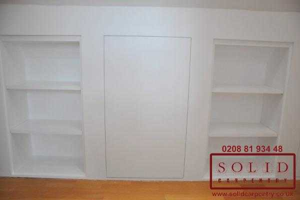 loft storage cupboard in white