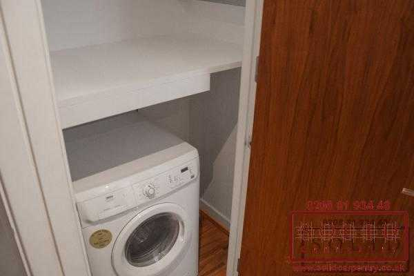 shelf above washing machine