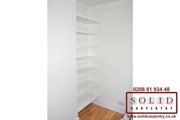 alcove white shelves