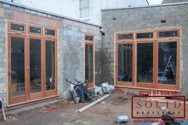 Patio doors installation
