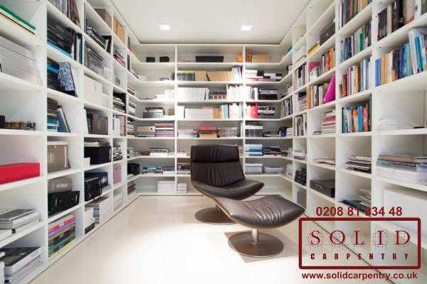 Room with integrated bookcase