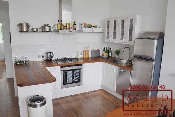 U shaped practical kitchen