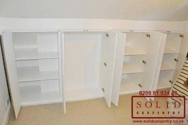 loft bedroom custom storage cupboard