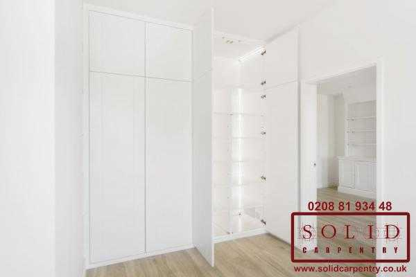 wardrobe and bookcase