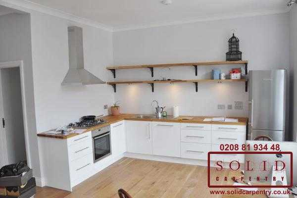 Open plan designer kitchen