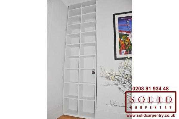 Left alcove bookcase