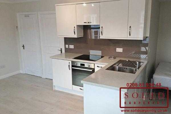 L shaped top floor kitchen