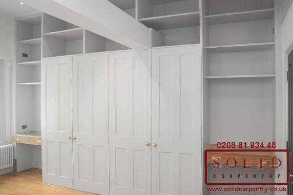 wardrobe and shelves around