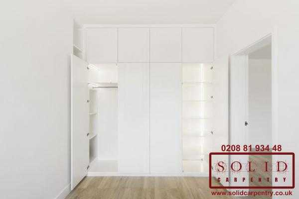 open soft closing wardrobe doors