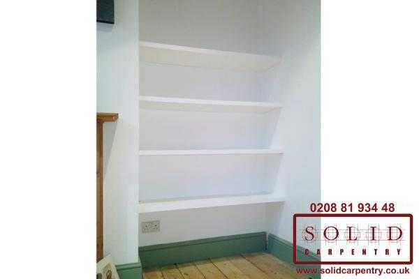 alcove book shelves