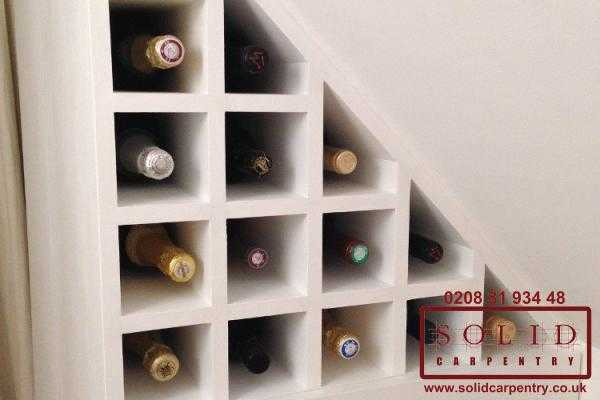 Wine storage in the loft eaves