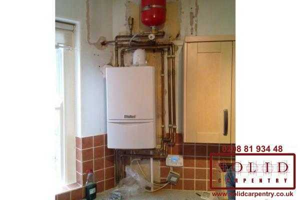 Image illstrating work on Boiler cupboards