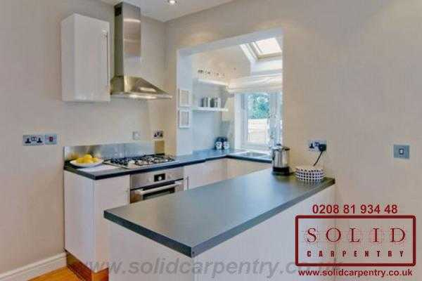 Image illstrating work on Professional kitchen fitting