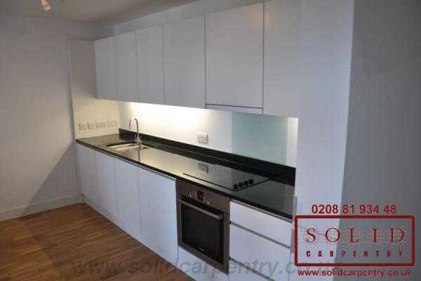 modern new build flat kitchen