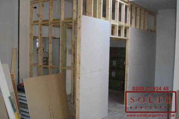 Image illstrating work on Partition walls installation