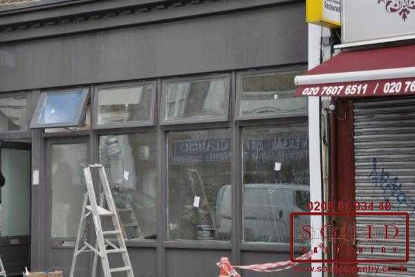 Image illstrating work on Wooden shop fronts