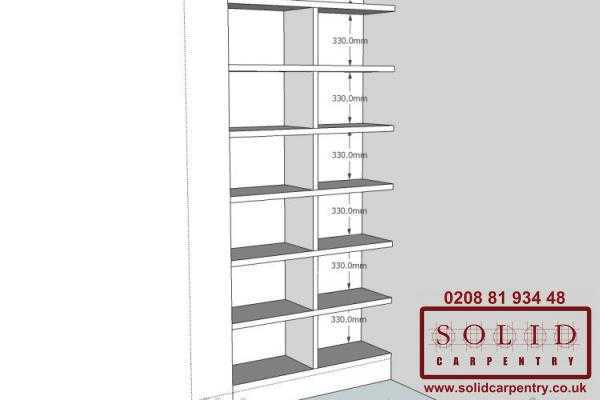 Image illstrating work on Bookcases & shelves