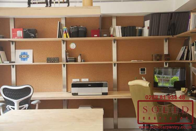 bespoke home office. Bespoke Home Office. Built In Luxury Desk · Birch Ply Shelves And Office